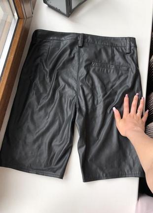 Новые кожаные шорты велосипедки h&m zara guess2 фото
