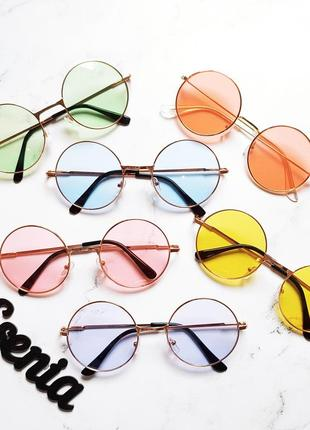 Очки круглые цветные для образа, имиджа