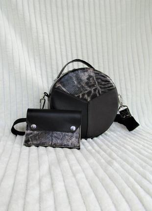 """Необычный клатч + кошелечек в подарок """"safari""""  handmade"""
