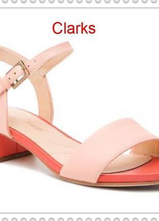 Clarks оригинал женские кожаные босоножки размер 37, 38, 38.5, 39