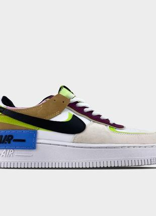 Кроссовки nike air force 1 shadow barely volt