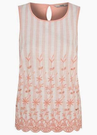 Летняя блузка с вышивкой george большого размера