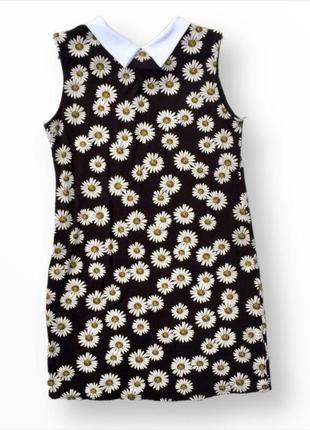 Летнее платье в ромашки из натуральной ткани select