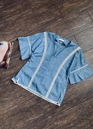 Красивая летняя хлопковая блуза   оригинал
