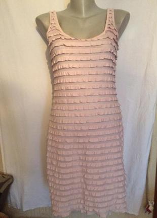 Стильное платье - майка,пудра,трикотаж, от h&m
