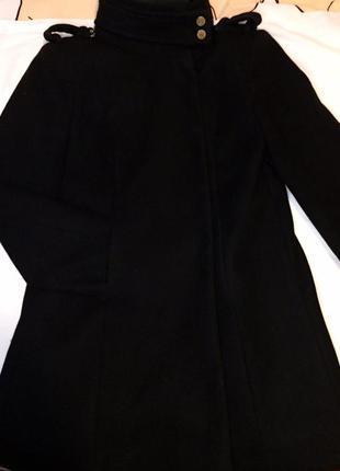 Пальто драповое осень mango