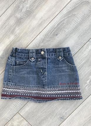 Юбка джинсовая с узорами