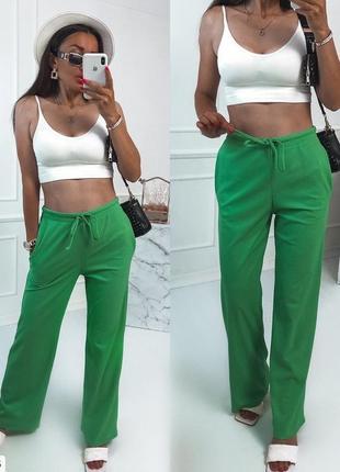 Штаны рубчик зелёные