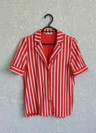 Zara оригинал зара женская рубашка в полоску, сорочка жіноча s/m