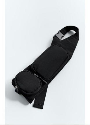 Поясная сумка бананка с карманами zara оригинал