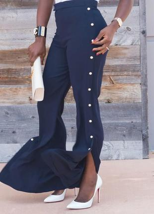 Шикарные широкие штаны,zara, брюки, колюты