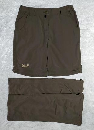 Штаны шорты 2в1 jack wolfskin треккинговые
