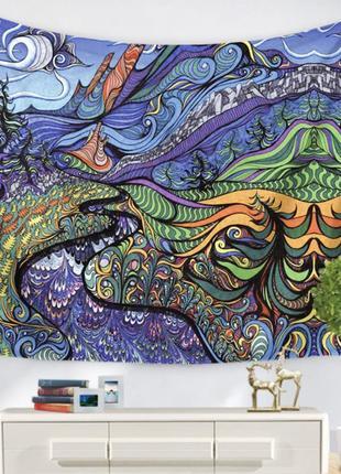 Картина текстильная гобелен настенный психоделика №1