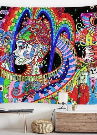 Картина текстильная гобелен настенный психоделика №2