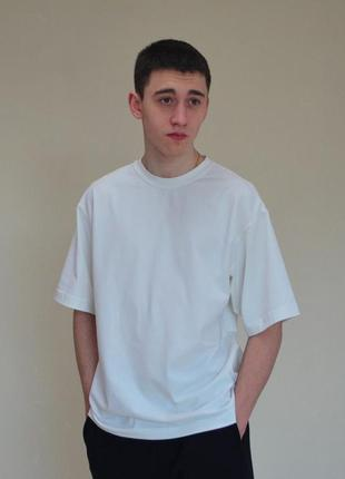 Оверсайз футболка базовая однотонная