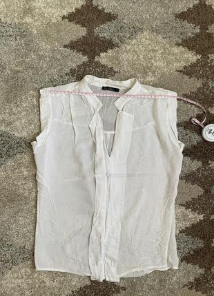 Легкая белая блуза с которыми рукавом kira plastinina, xs