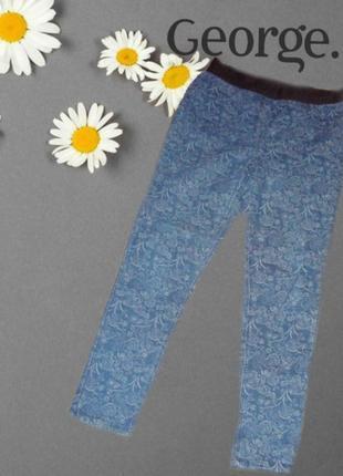 🌹🌹george 14 стильные летние джеггинсы на черной резинке в принт джинс 🌹🌹