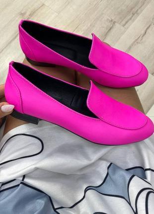 Туфли лоферы женские любой цвет натуральная кожа замша италия