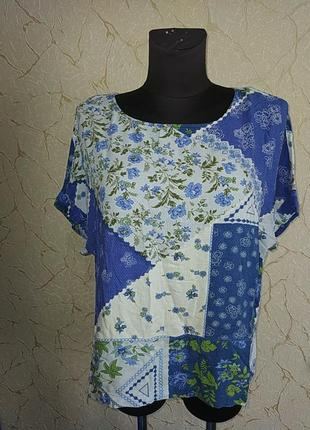 Топ блузка блузон натуральная m&s