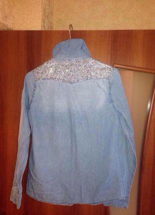 Джинсовая рубашка4 фото