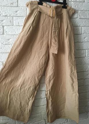 Брюки кюлоты, брюки -юбка /лен
