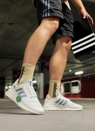 Мужские кроссовки adidas zx 500 rm white.