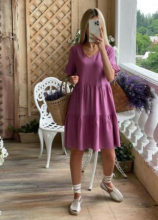 Платье свободного кроя. белое платье лен короткое выше колена
