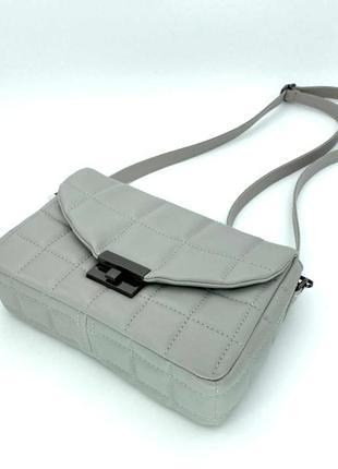 Женская молодежная стеганая сумка на плечо aliri-647-01 серая