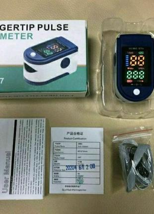 Портативный пульсометр оксиметр на палец pulse oximeter lk87