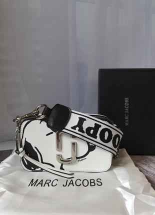 Белая сумка марк кожаная