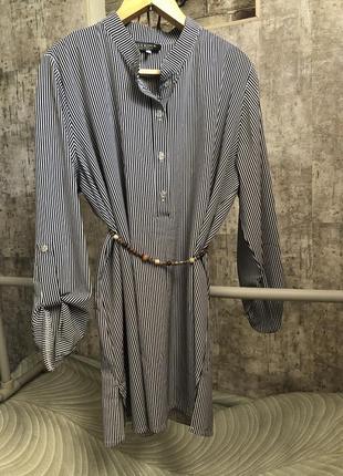 Блуза удлиненная рубашка