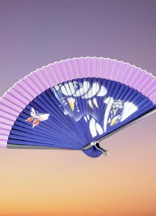 Віяло жіноче гейша з метеликом
