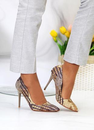 Женские туфли лодочки эко кожа