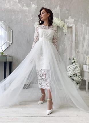 Фатиновая юбка накидка на платье 👰