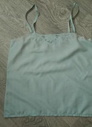 Мятный шелковый топ, пижамка