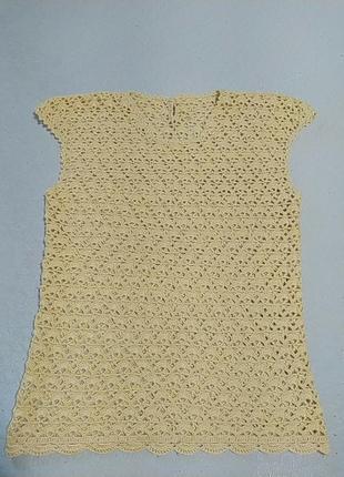 Блузка вязанная ручная работа