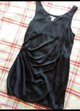 Класне чорне плаття платье під шовк h&m
