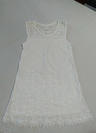 Платье трапеция ажурное