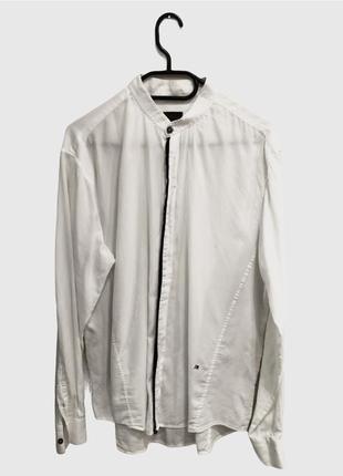 Лёгкая рубашка из тончайшего гладкого коттона richmond .