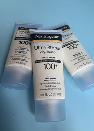 Neutrogena, ultra sheer, не оставляющий следов солнцезащитный крем лосьон с spf 100+, (88 мл)