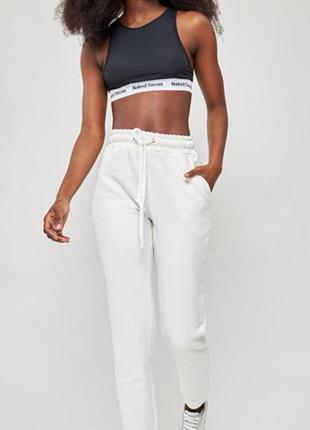 Женские спортивные белые штаны брюки
