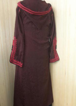 Винтажный кафтан кардиган/ накидка на длинное платье  с капюшоном l/xl4