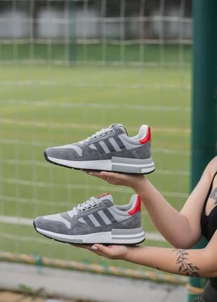 Мужские кроссовки adidas zx 500 rm grey, распродажа