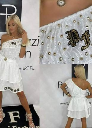 Шикарное платье, сарафан, воланы, размер с