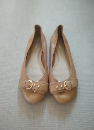 Туфли балетки aldo из натуральной кожи