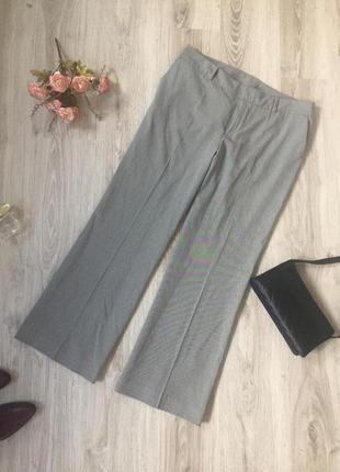 Широкие брюки гусиная лапка