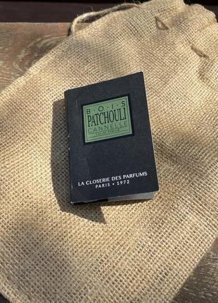 Парфюмированная вода bois patchouli cannelle пробник оригинал