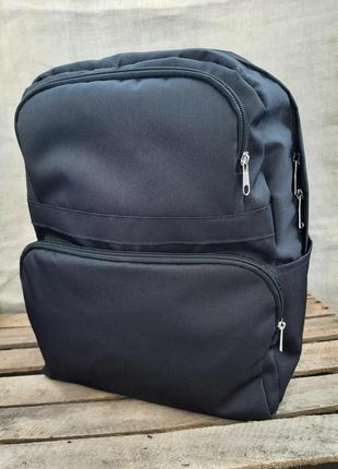 Рюкзак легкий черный средний женский унисекс на молнии демисезонный