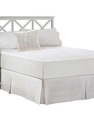Белая двухспальная простынь с юбкой простыня с подзором подзор юбка для кровати подзорник