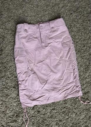 🔥🔥трендова пудрова юпка з боковими карманами роз 36-38